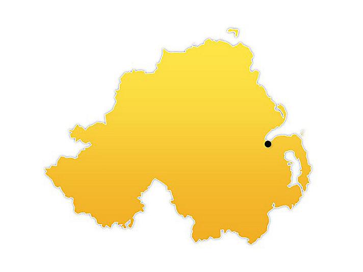 Northern Ireland Location Map