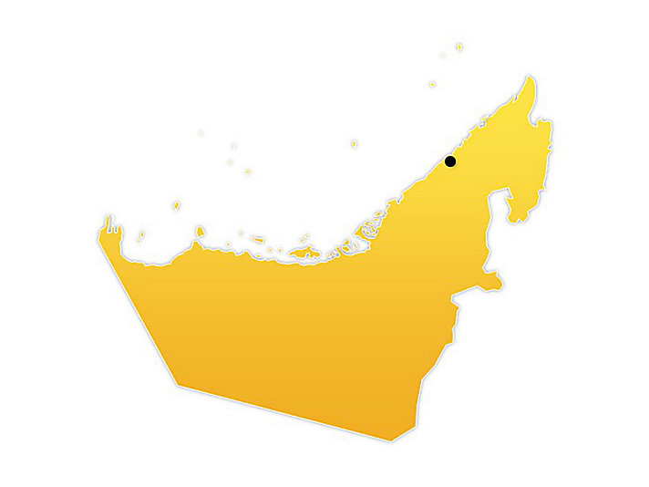 UAE Location Map