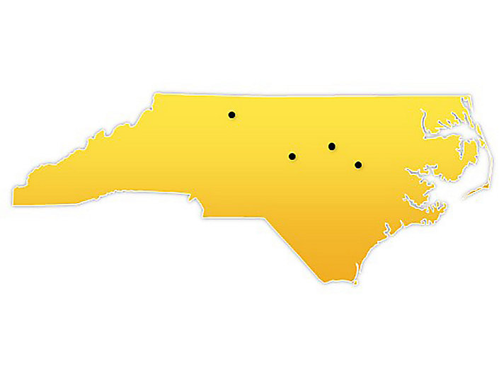 North Carolina Location Map