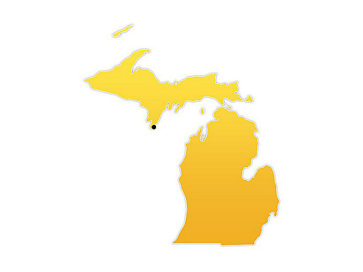 Michigan Location Map