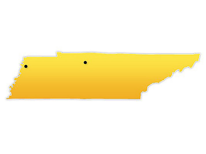 Tennessee Location Map