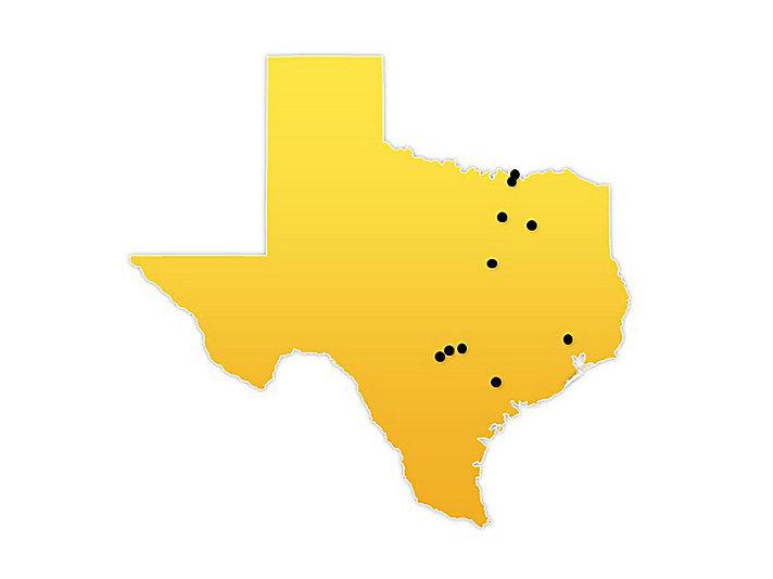 Texas Location Map
