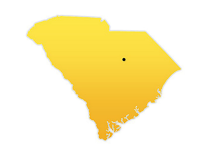 South Carolina Location Map