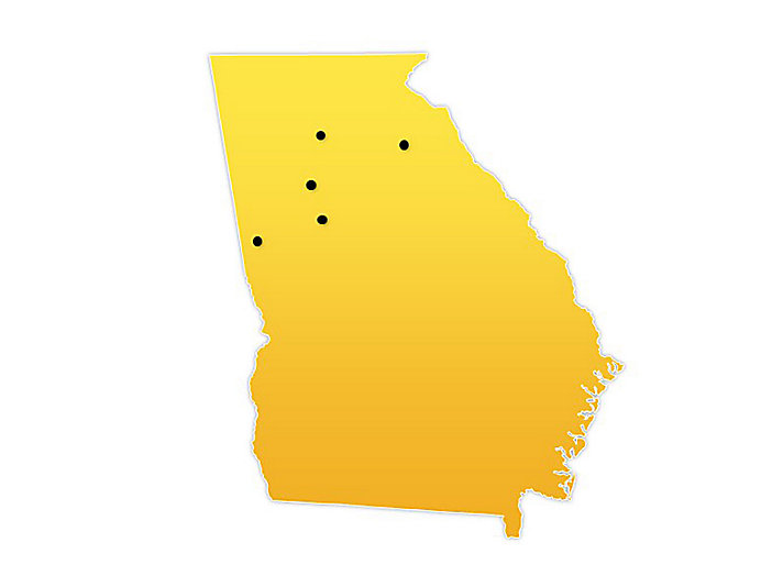 Georgia Location Map
