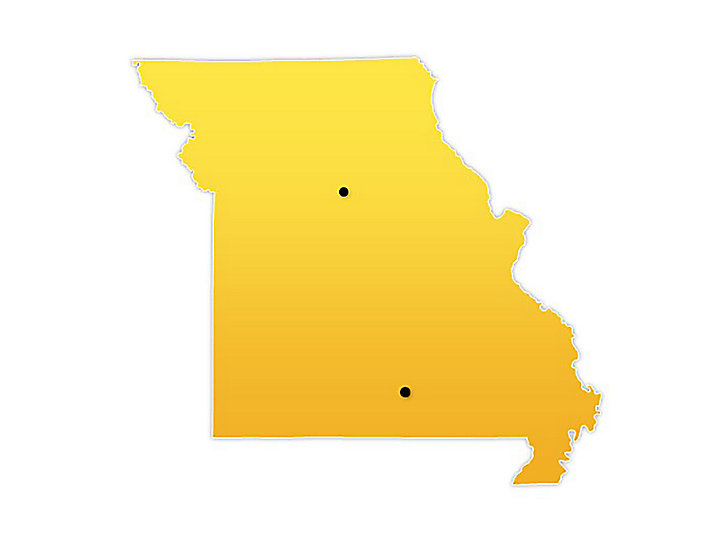 Missouri Location Map