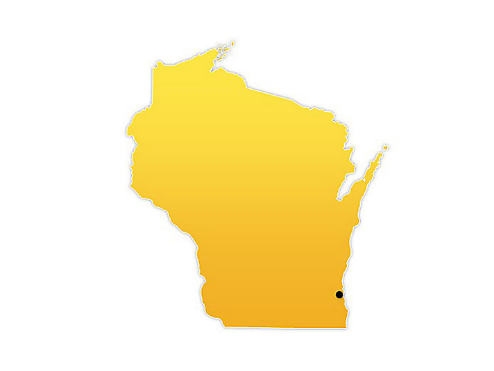 Wisconsin Location Map