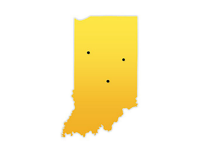 Indiana Location Map