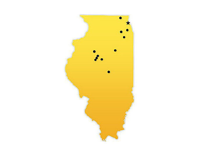 Illinois Location Map