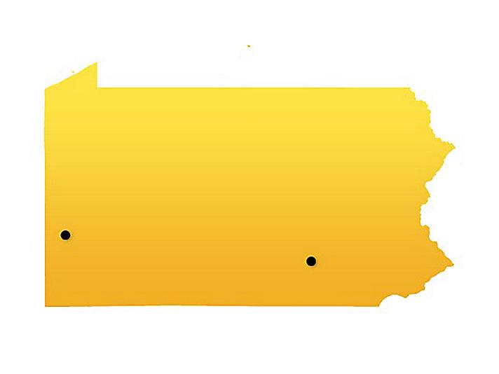 Pennsylvania Location Map