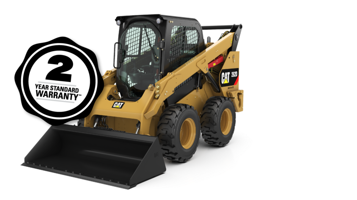 Cat 262D Skid Steer Loader - 2 Year Standard Warranty