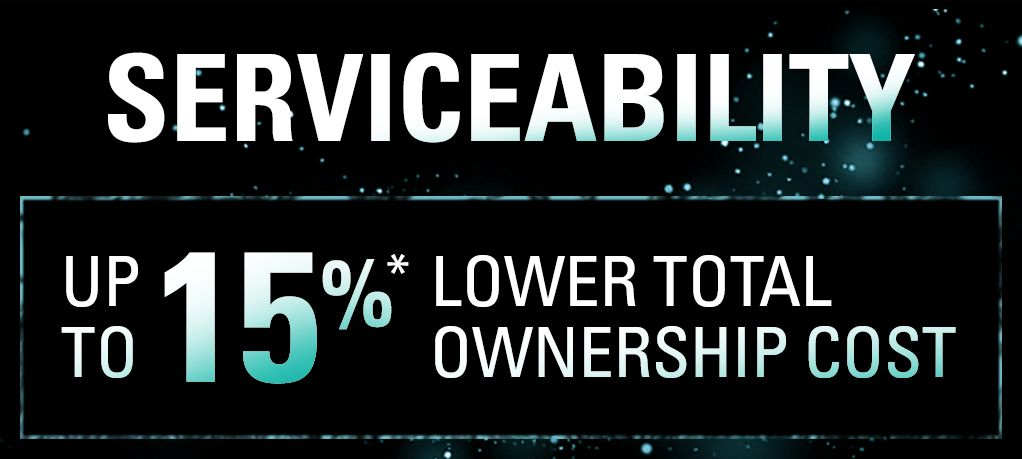 Serviceability - Up To 15%* Lower Total Ownership Cost