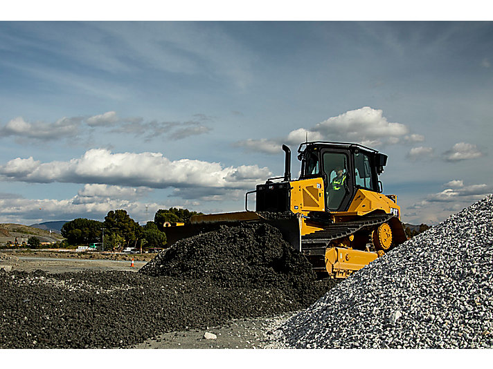 D5 Dozer Grading on Gravel