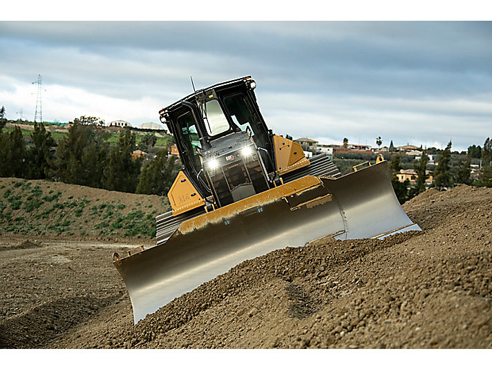 D5 Dozer Grading on a Slope