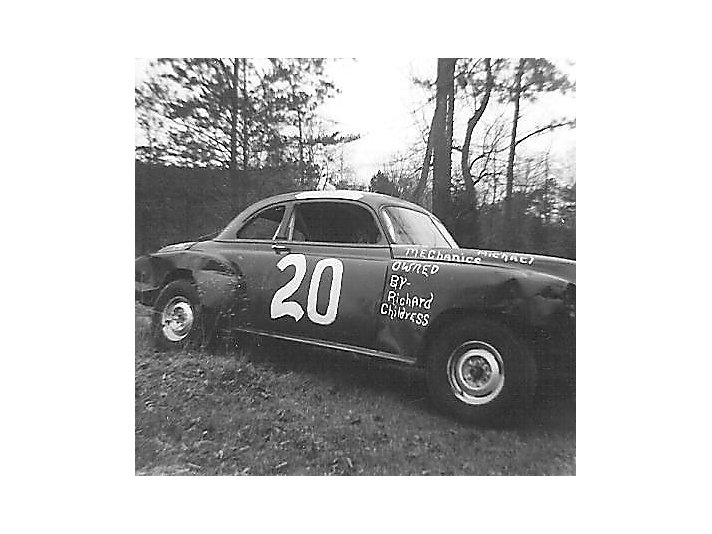 This is Richard's first race car that was a taxi cab and bought for 20 dollars