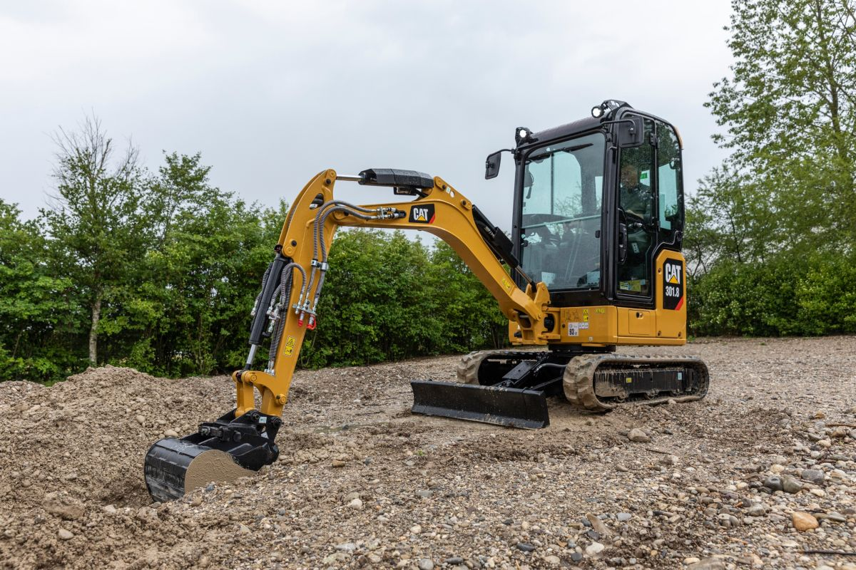 The new Cat 301.8 Next Generation mini excavator