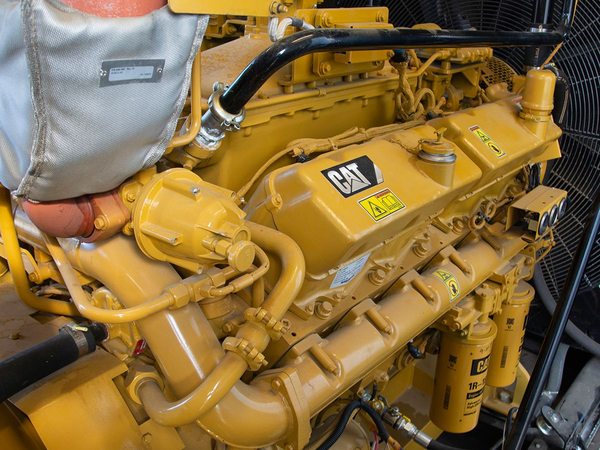 Cat gas generator sets provide standby power for VCOM's digital curriculum.