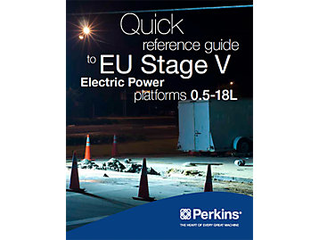 Quick Reference Guide to EU Stage V Electric Power
