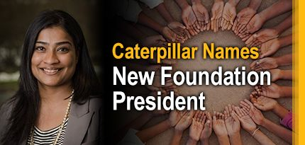 Caterpillar Names New Foundation President - Asha Varghese