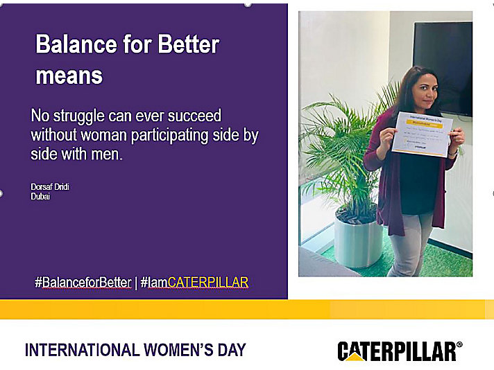 International Women's Day - Better Balance, Better World  - Dorsaf – Dubai