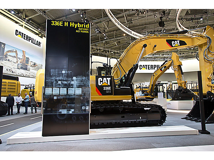 The 336E H is among 20 new products introduced at bauma 2013. The 336E H is the first-ever Cat product to use hydraulic hybrid technology.