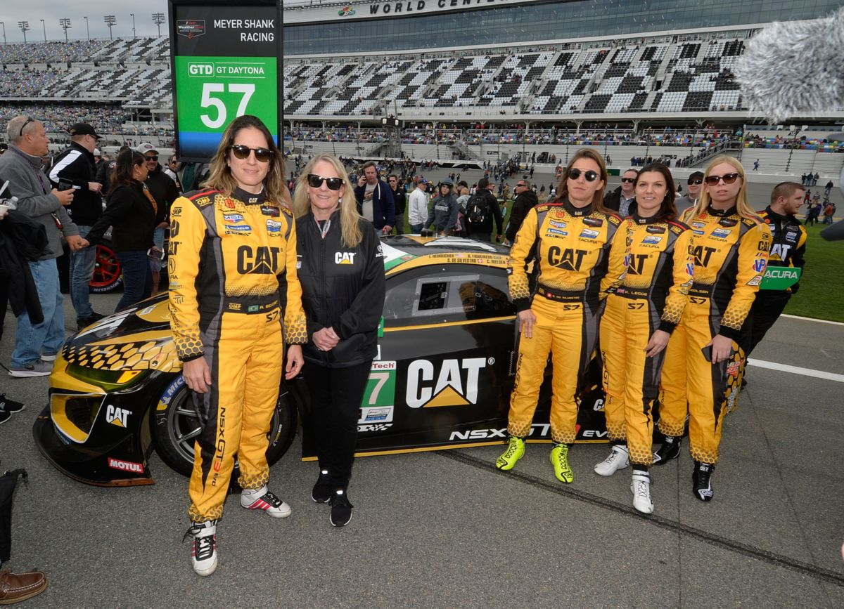 """Girl Power"" Drives the No. 57 Caterpillar Car"