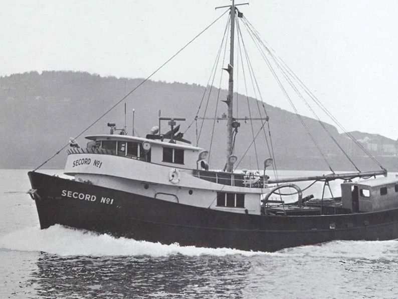 """Secord No. 1This 90-foot vessel longlined for halibut, herring and salmon off West Coast waters. Captain Denver Secord specified Cat power """"because we can get service wherever we go. This is important because we will fish waters from Alaska to South America."""""""