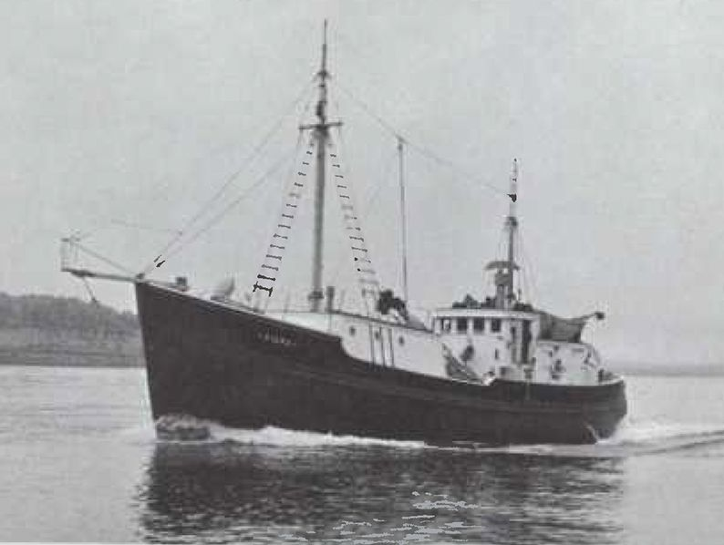 Bonnie B No. 1Captain Bernard D. Bennett bought a Cat engine for Bonnie B No. 1 based on local reputation for quality and ready availability of dealer service. It paid off in a trouble-free season fishing for salmon in coastal waters from Queen Charlotte Straits to Dixon Entrance.