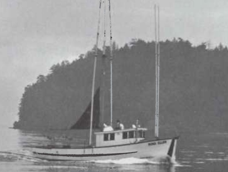 The 42-foot Nina Ellen fished the waters near Vancouver Island. Captain Stan Almo chose a Cat engine on the recommendation of his father and brother and said he was impressed with Caterpillar's excellent after-sales service.