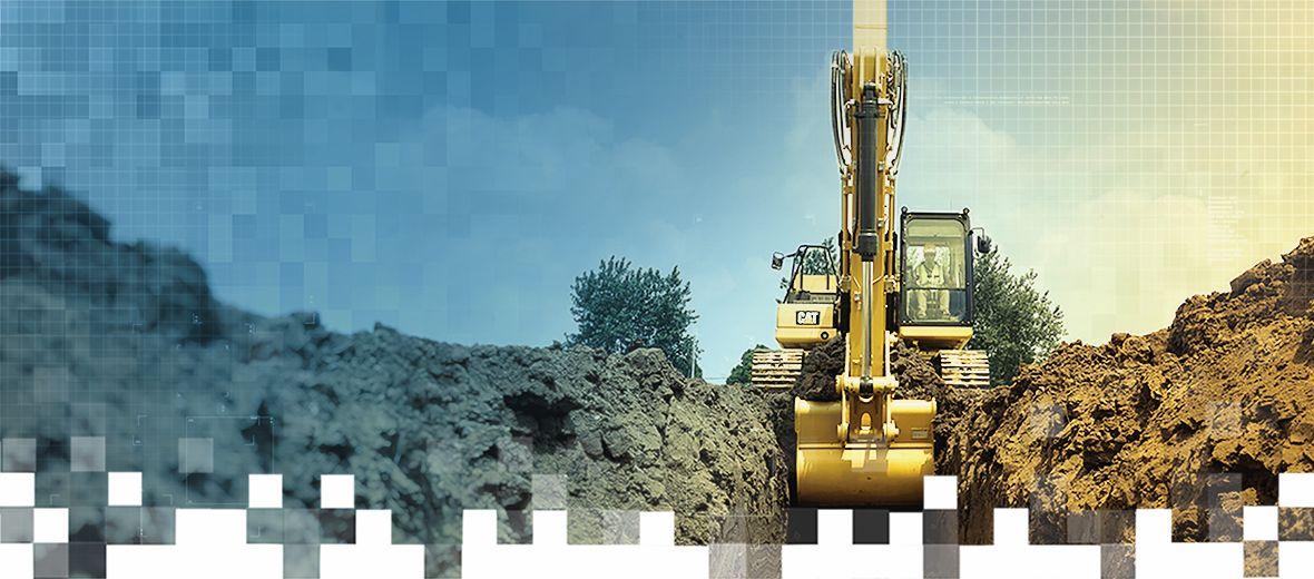Medium Excavator at work