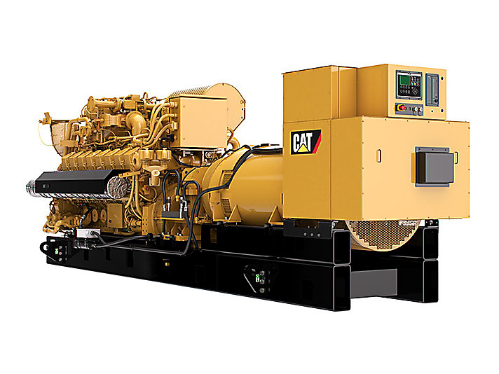 G3516H  Gas Generator Sets Rear Left View