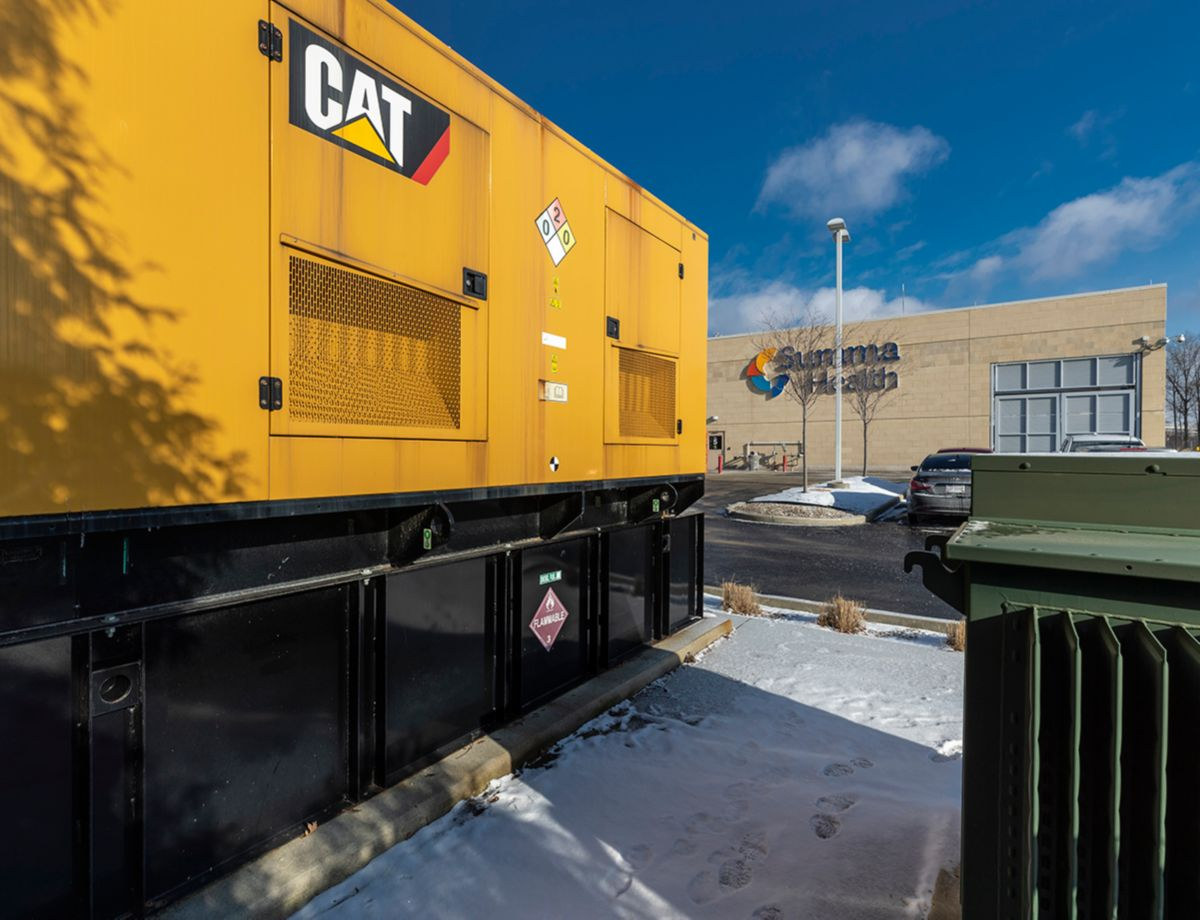 Reliable Cat® diesel generator sets contribute to the success of Summa Health.