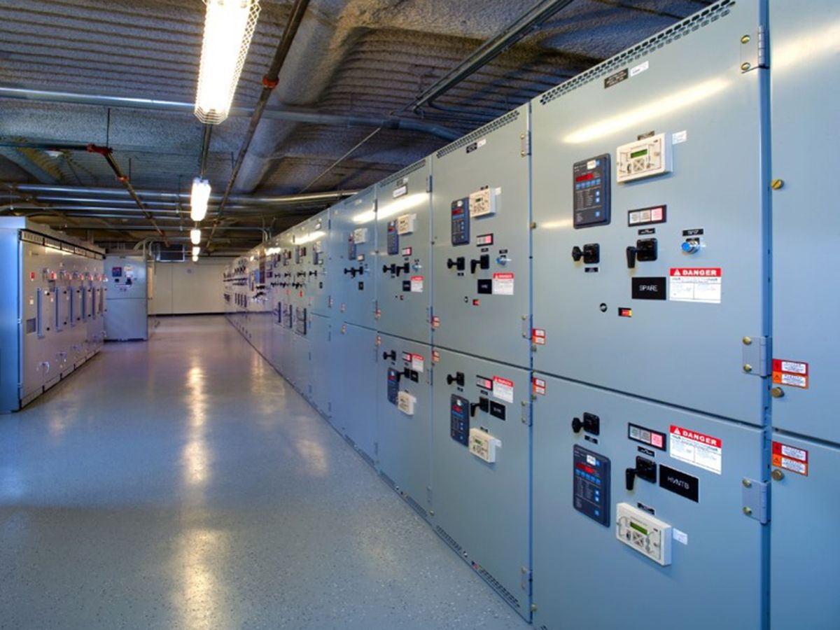 Figure 1: Paralleleing diesel generators with wall-mount radiators, control panels, mufflers, power and control conduits, step-up transformers, and isolation pads are located indoors. All graphics courtesy: JBA Consulting Engineers