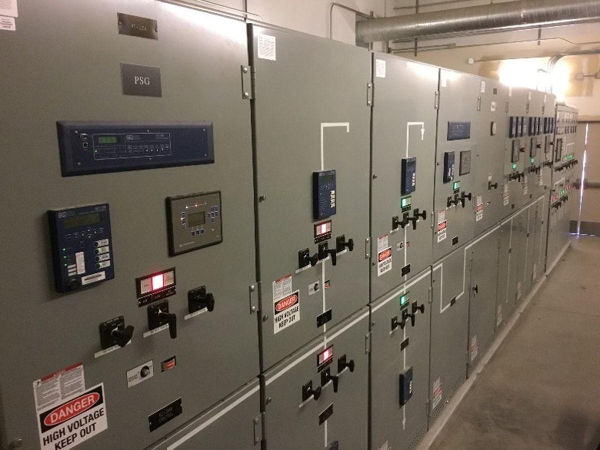 Figure 4: The Graton 27-kV paralleling switchgear lineup.