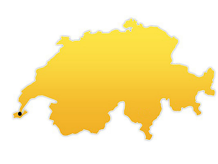 Switzerland Location Map