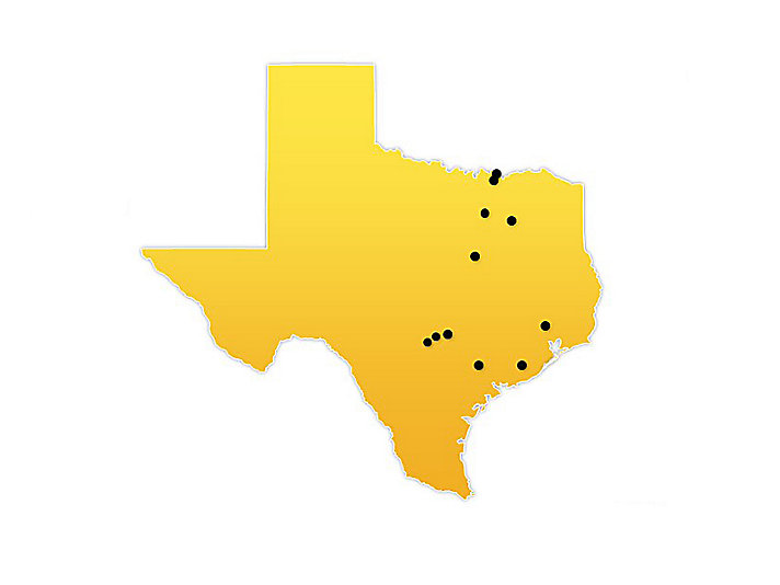 Texas Location Map