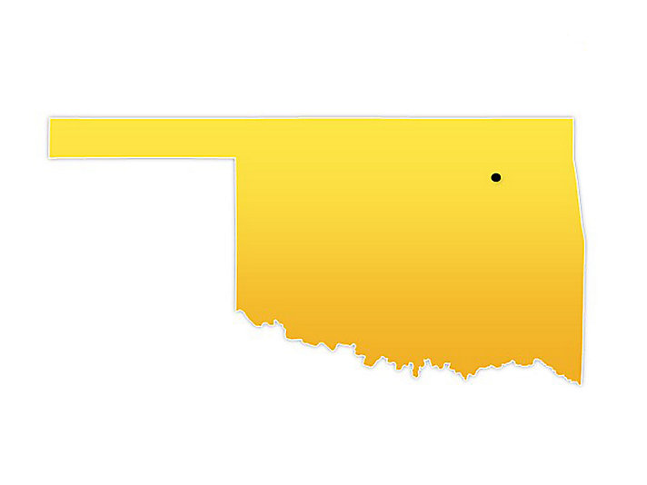 Oklahoma Location Map