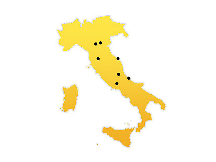 Italy Location Map