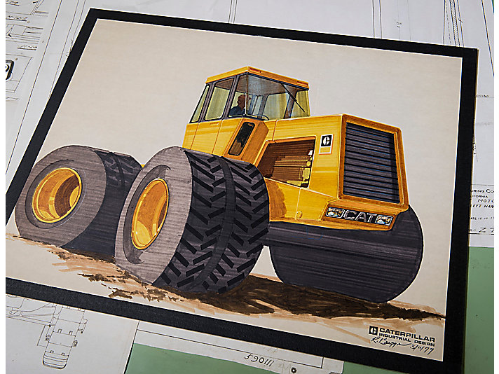 In the early days of industrial design, machines were concepted using pencil and paper, then formed as clay models, and finally manufactured as prototypes for further testing and validation. This drawing from XXXX is an example of a concept that never reached production.