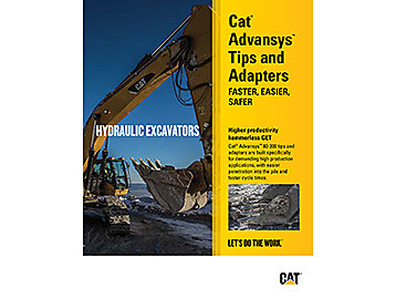 Cat® Advansys™ Tips and Adapters - Hydraulic Excavators