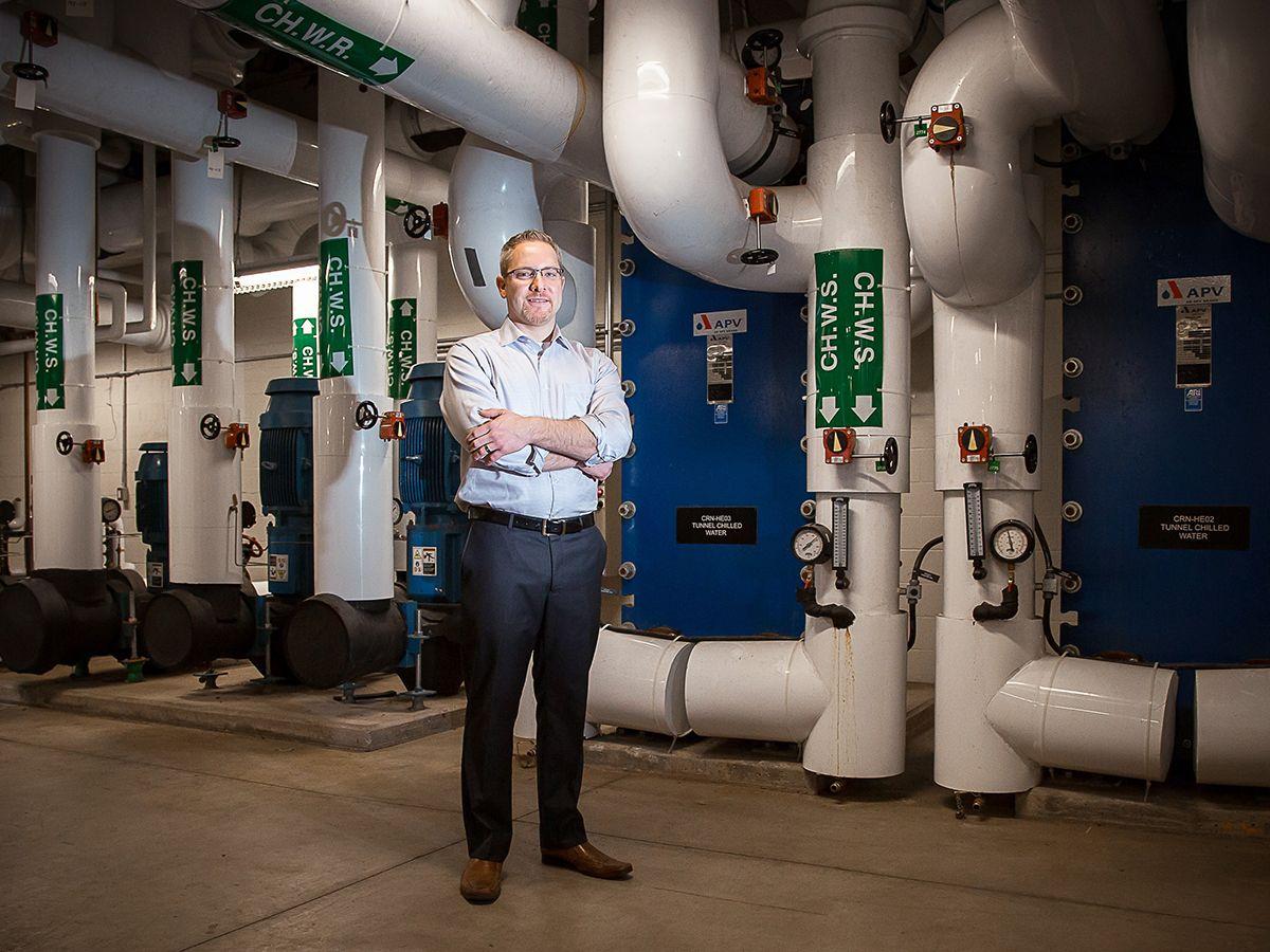Scott Johnstone, Brock's associate vice president of facilities management