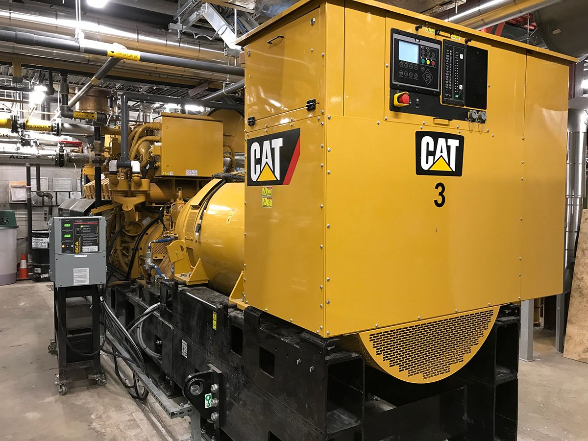 Cat® G3516H generator sets power university and research facility.