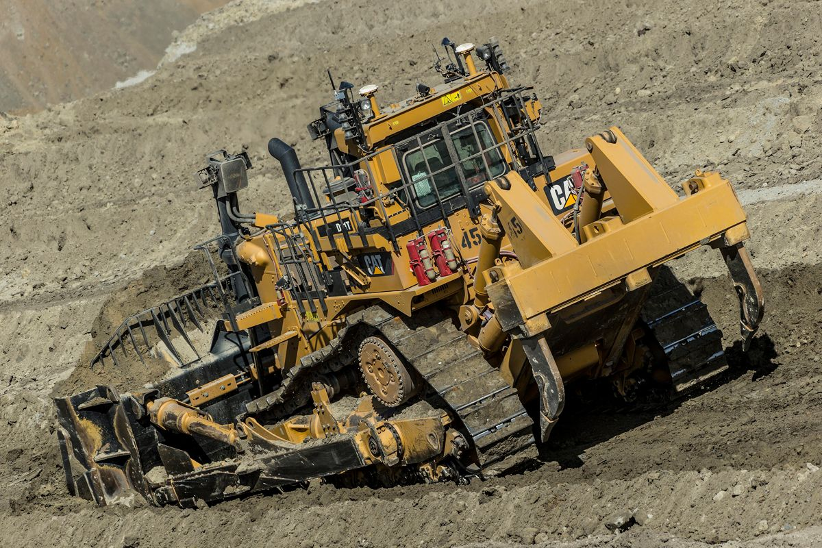 Cat dozer working autonomously