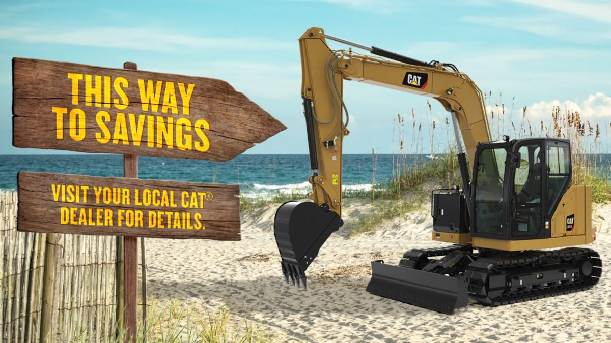0% for 60 Months on select new Cat Compact Equipment* with a 2-year standard warranty**
