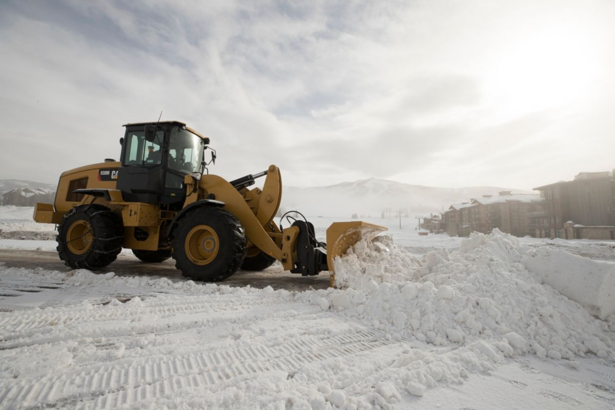 Cat 938M SWL in sneeuwruimtoepassing