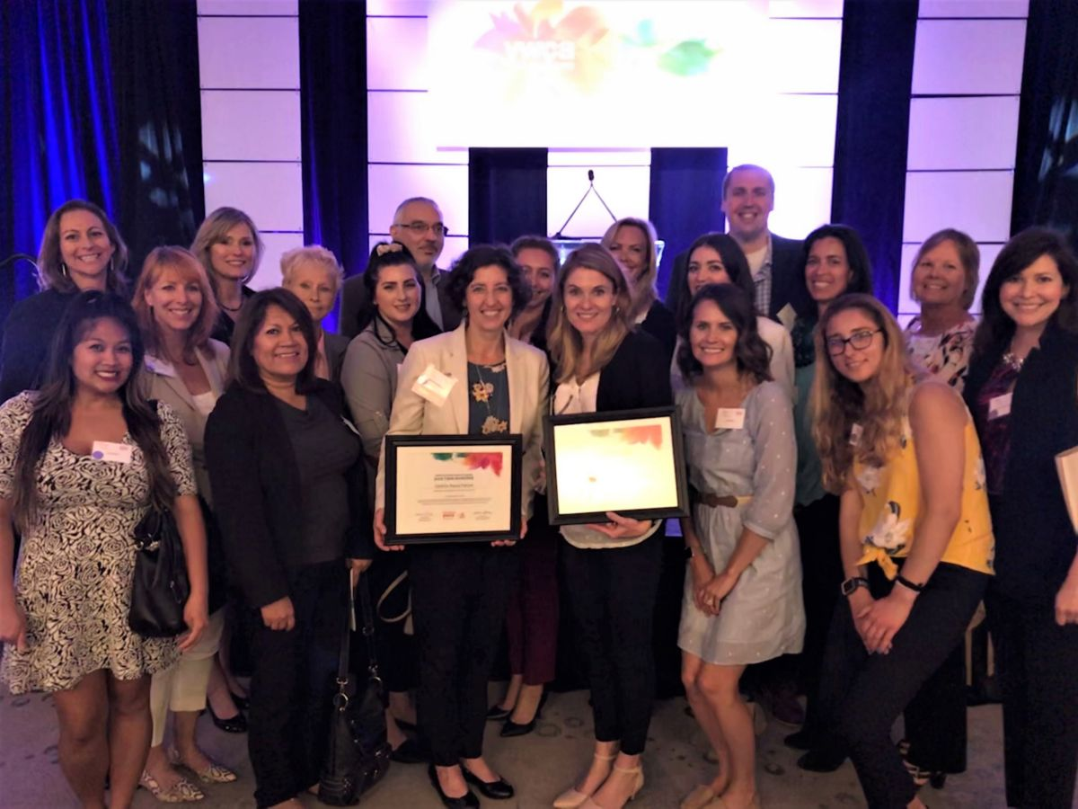 The proud Solar Team at YWCA San Diego's Tribute to Women & Industry award ceremony, supporting Christina and Cynthia Solar Turbines