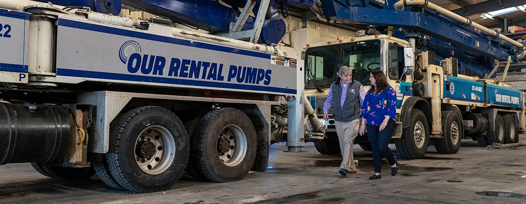 Samantha Ruttura our rental pumps concrete placing