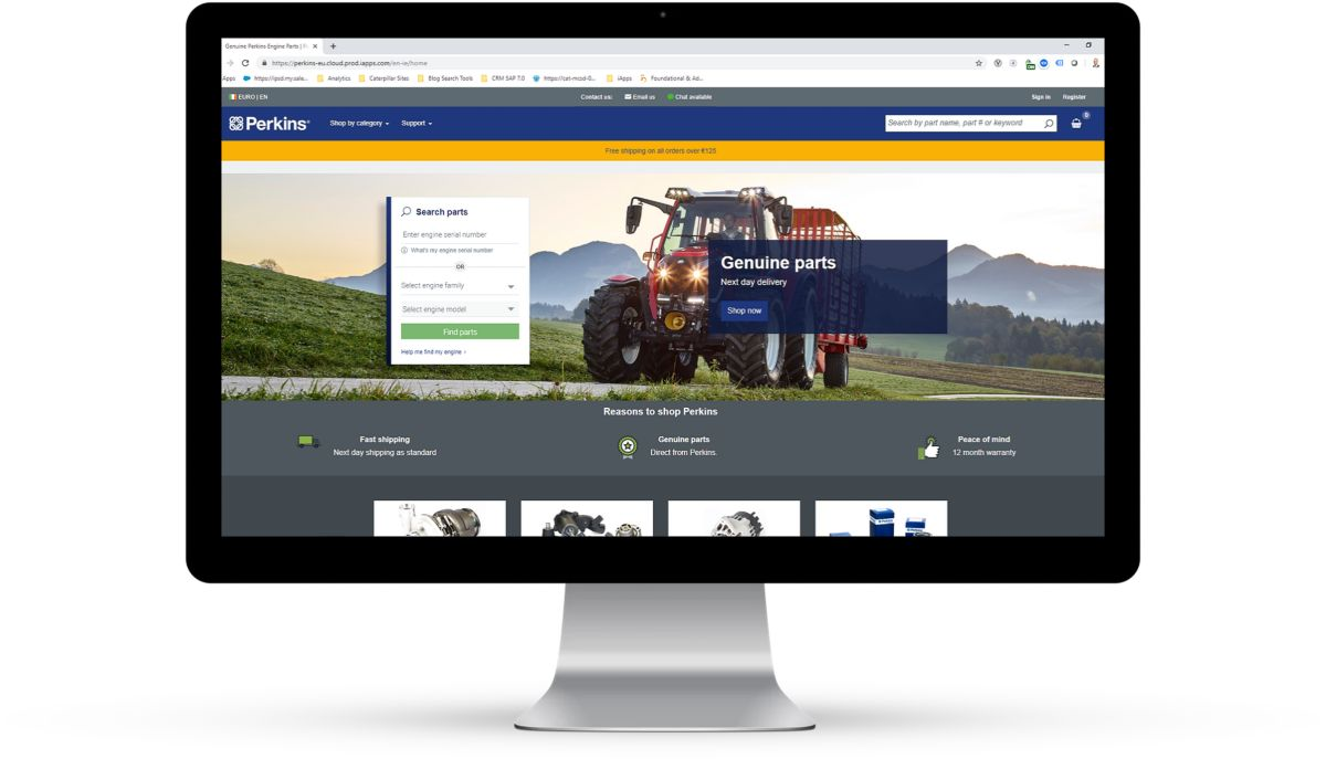 Perkins expands its eCommerce coverage with a new online parts shop in Ireland