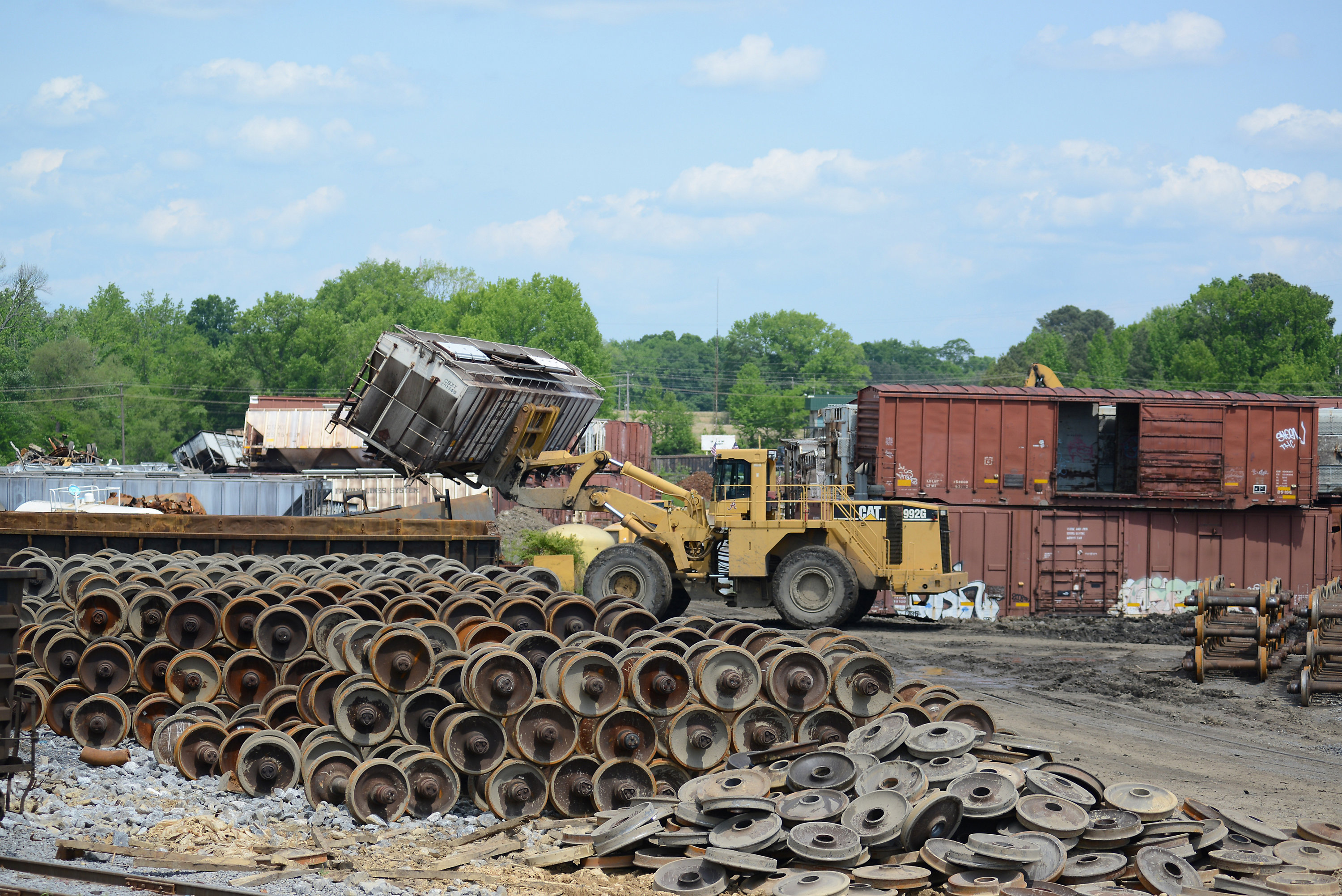Recycling, sustainability, derailment services