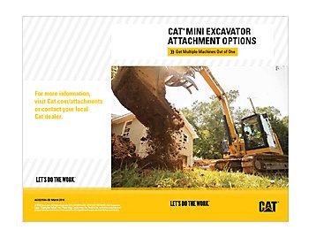 Cat Mini Excavator Attachment Options Brochure