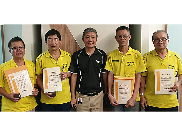 Employees from the Asia Distribution Center recently celebrated 45 years of helping customers get the products they need.